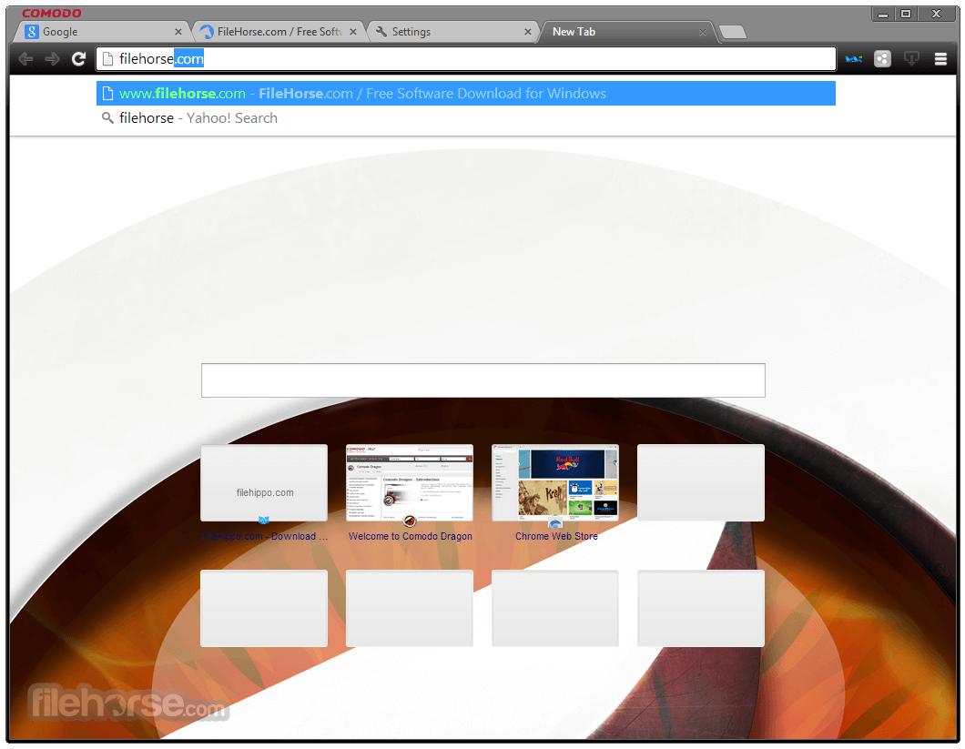Comodo Dragon Internet Browser 45.8.12.389 Screenshot 2