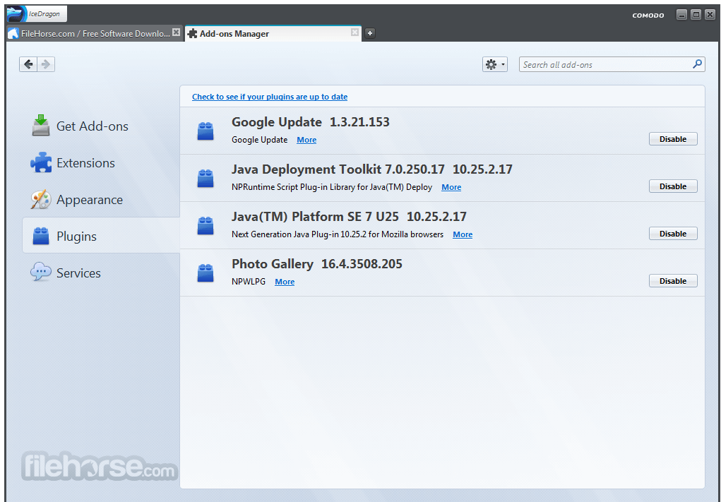 Comodo IceDragon Internet Browser 44.0.0.11 Screenshot 3