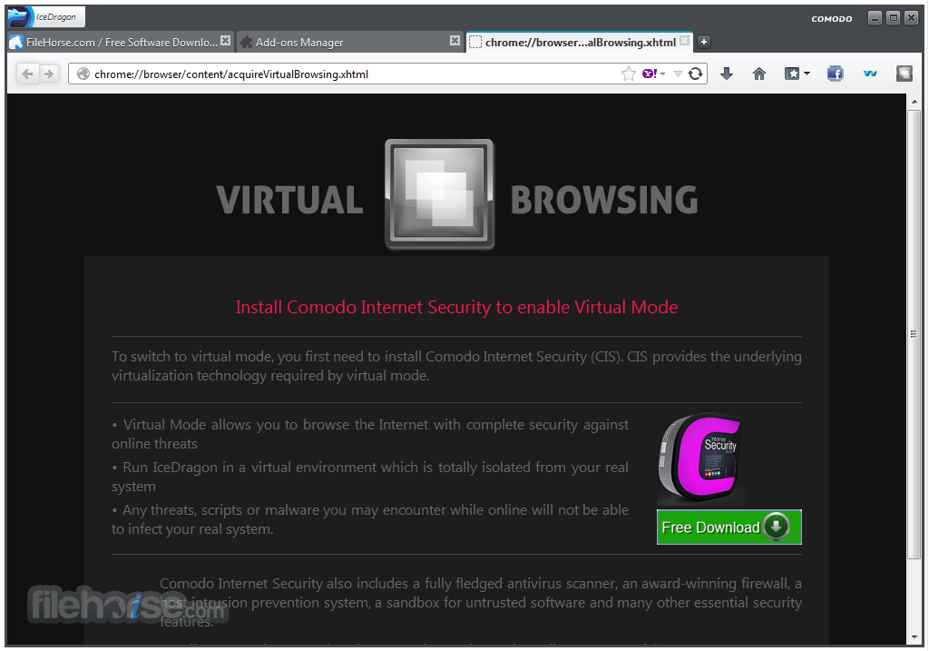 Comodo IceDragon Internet Browser 26.0.0.1 Screenshot 4