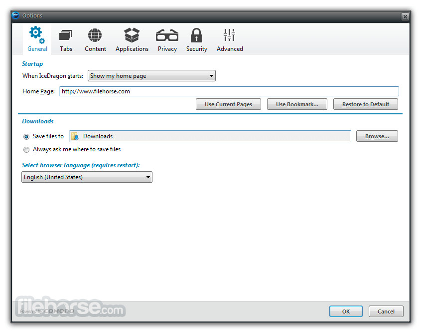 Comodo IceDragon Internet Browser 25.0.0.1 Screenshot 5