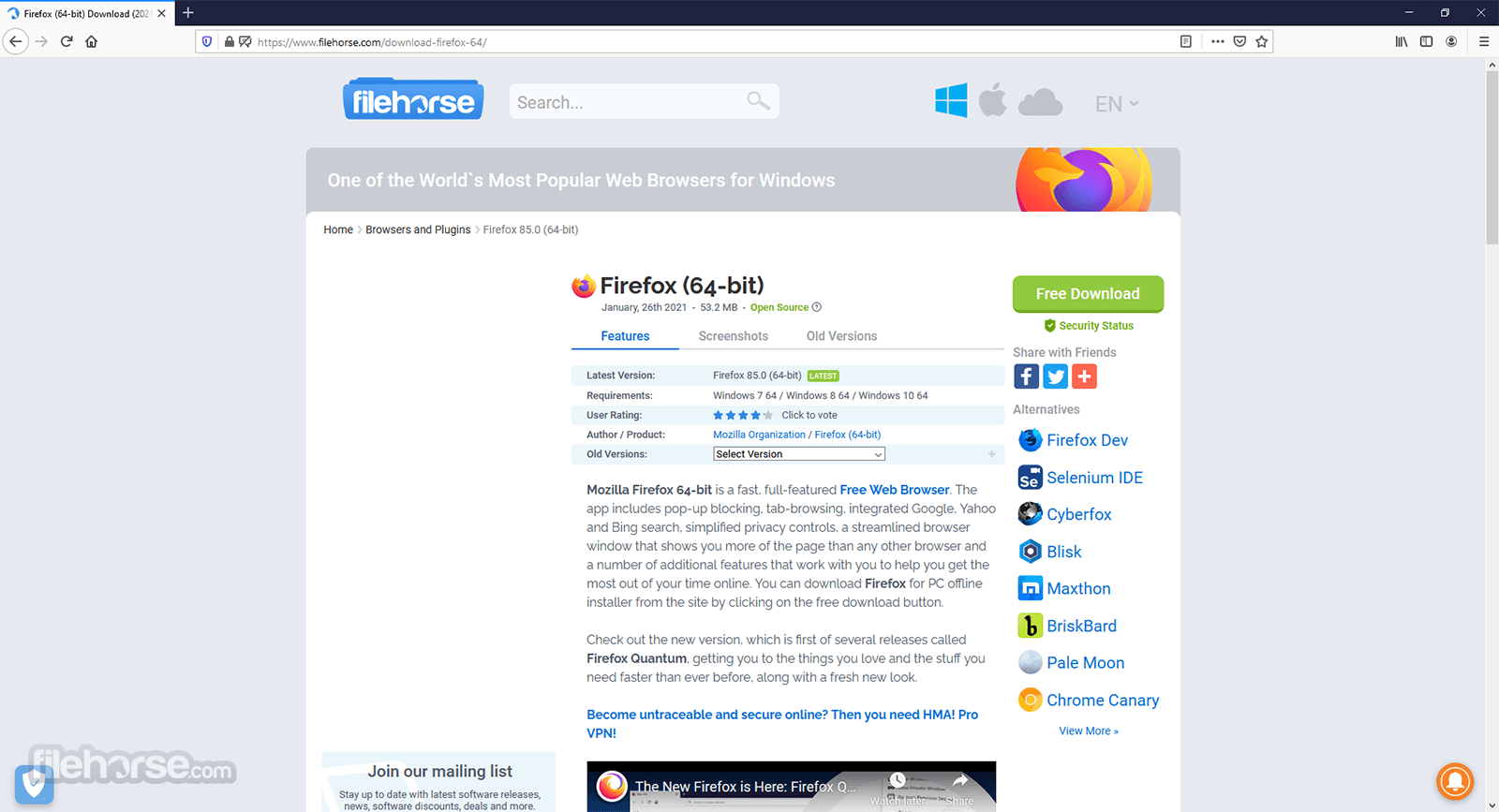 Firefox 56.0 (32-bit) Screenshot 1