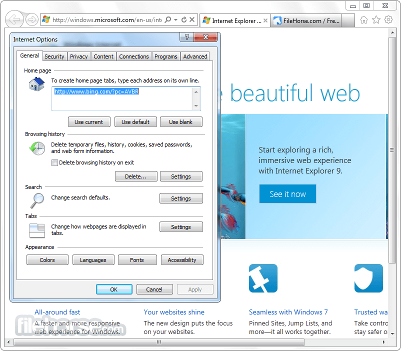 Internet Explorer 9.0 (Vista 32-bit) Screenshot 5