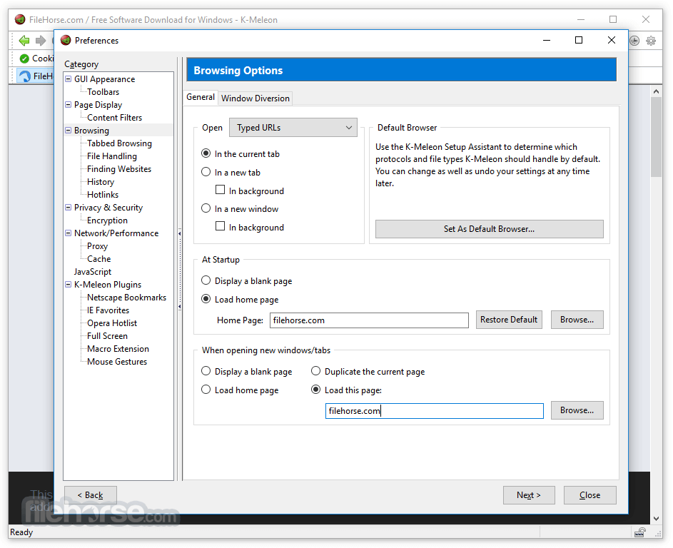 K-Meleon 76.0 RC Screenshot 3