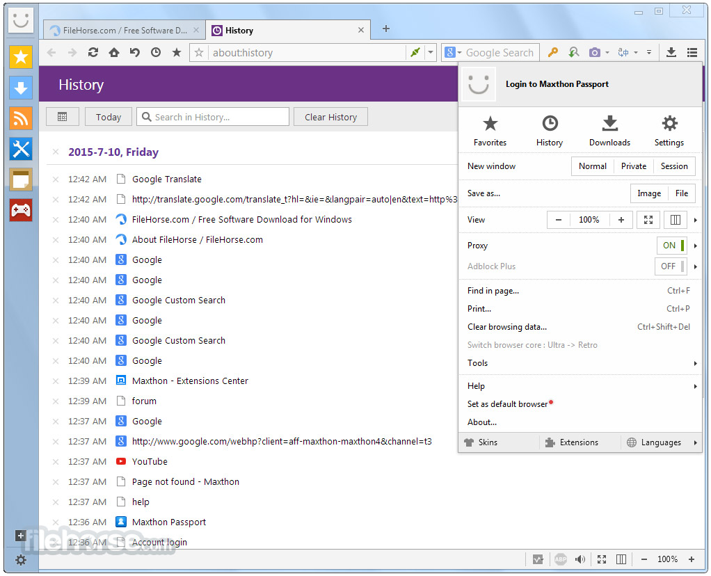Maxthon Cloud Browser 4.3.1.1000 Screenshot 4