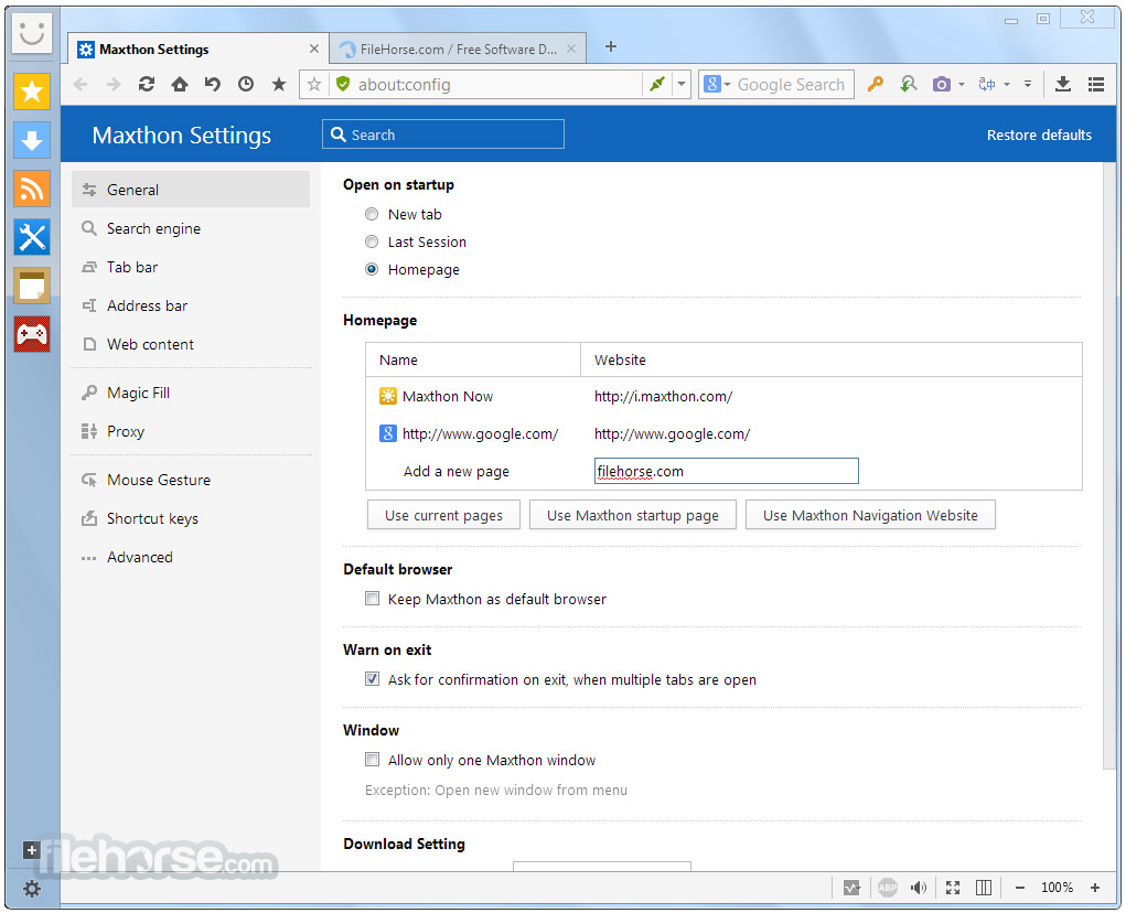 Maxthon 1.5.1 Screenshot 5