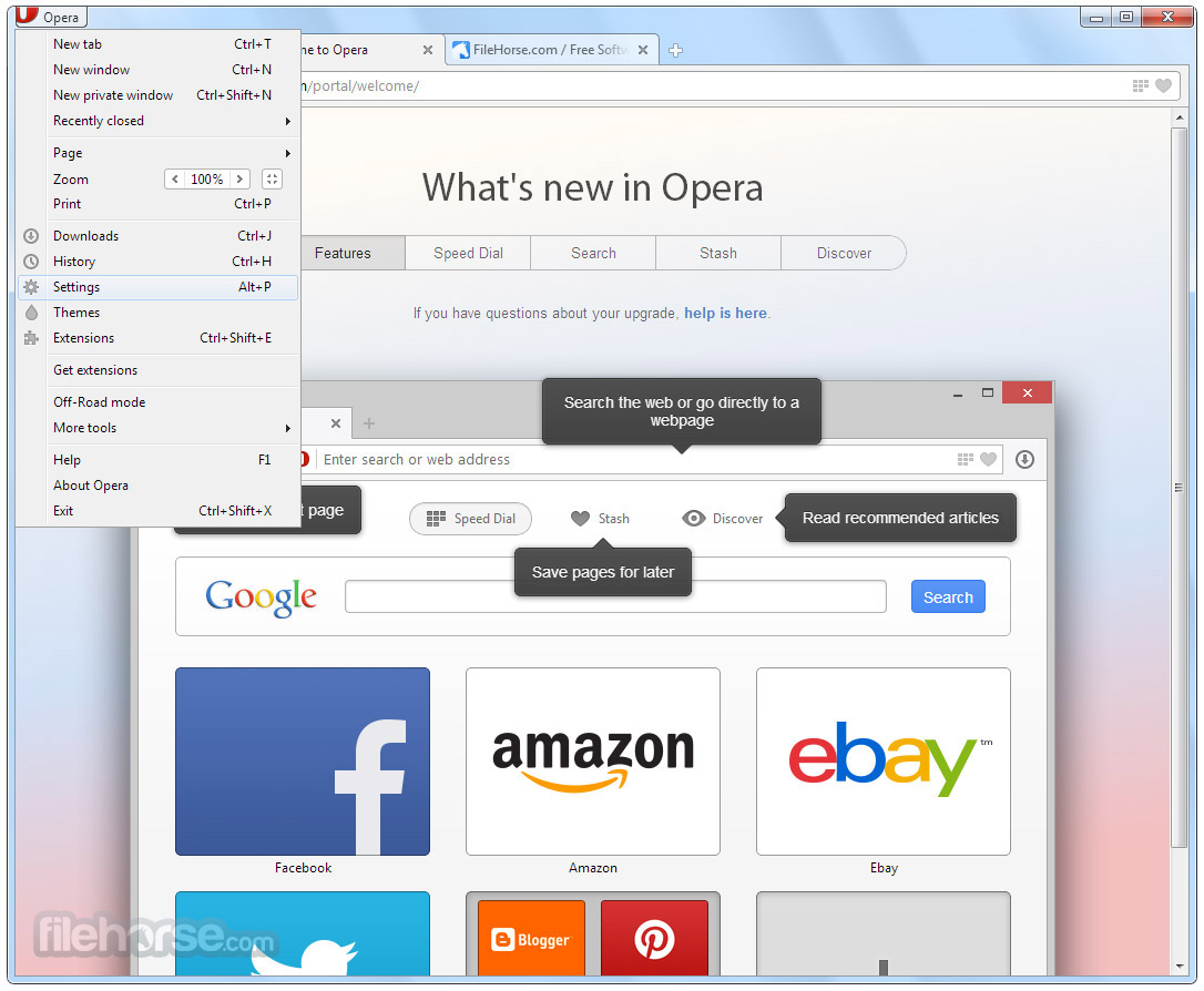 Opera 49.0 Build 2725.39 (32-bit) Screenshot 3