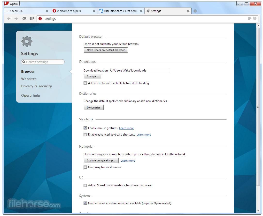 Opera 48.0 Build 2685.50 (32-bit) Screenshot 5
