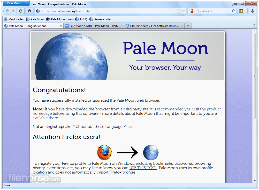 Pale Moon 27.3.0 (64-bit) Download for Windows / FileHorse.com