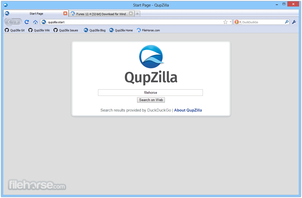 QupZilla Browser 2.2.5 Screenshot 1