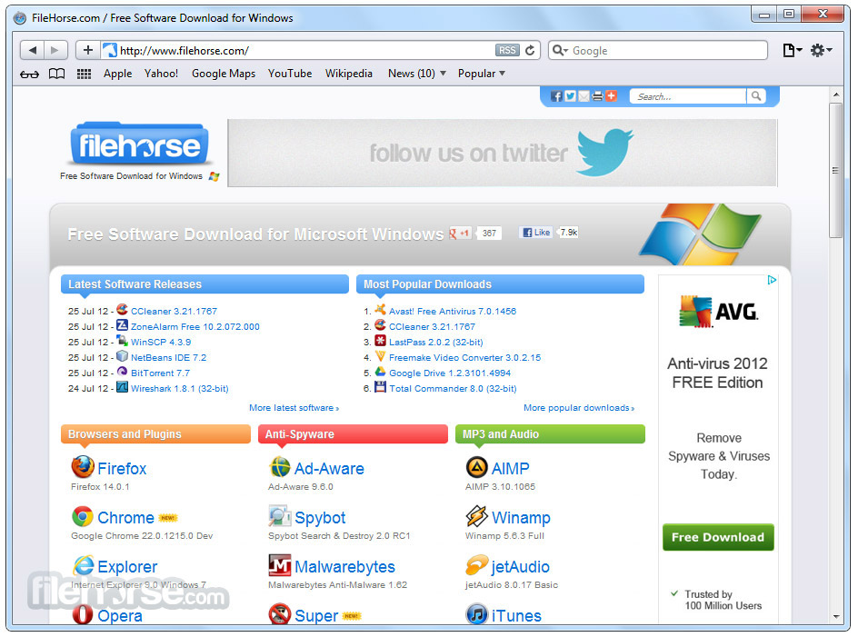Safari 5.1.5 Screenshot 1