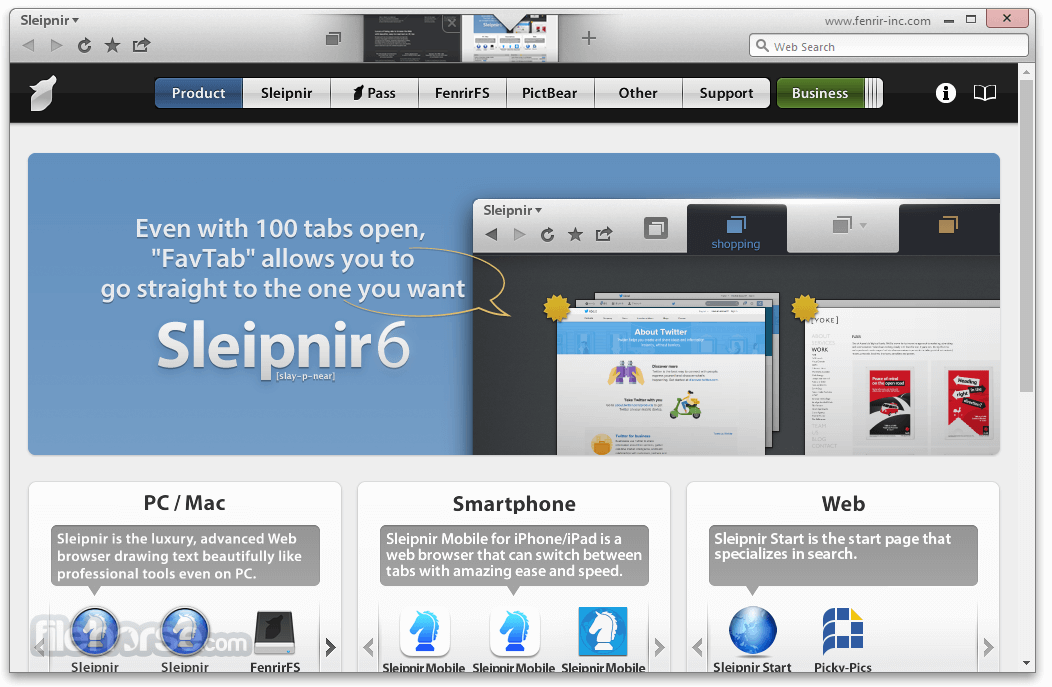 Sleipnir Browser 6.1.11 Screenshot 1