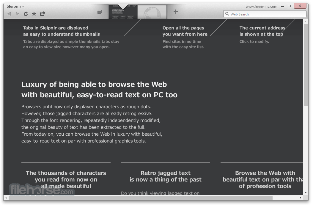 Sleipnir Browser 6.2.3 Screenshot 2