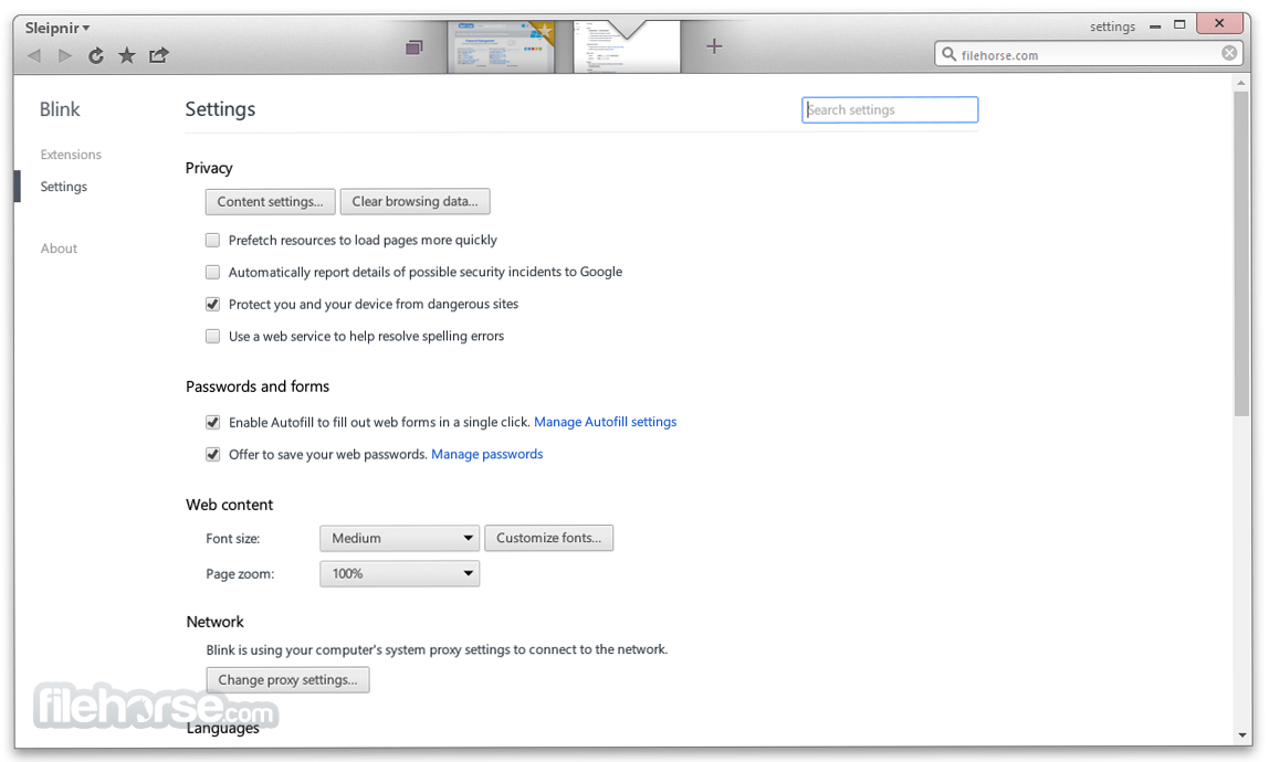 Sleipnir Browser 6.2.3 Screenshot 5