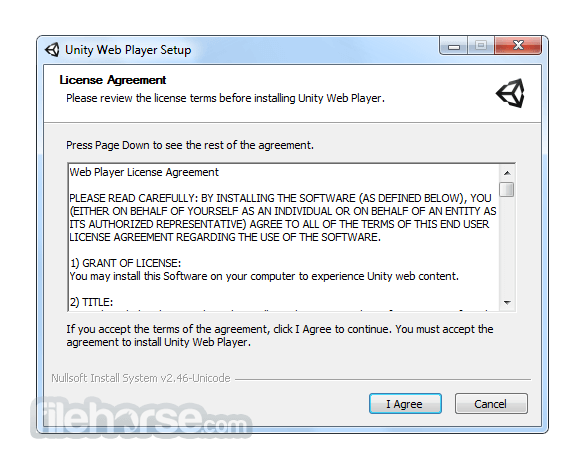 Unity Web Player 5.3.8 (32-bit) Screenshot 1