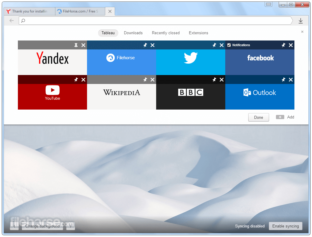 Yandex Browser 18.9.1.954 Captura de Pantalla 2