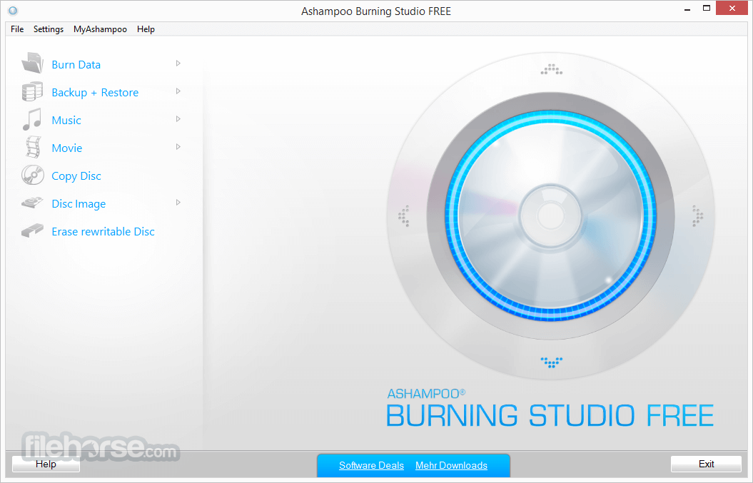 Ashampoo Burning Studio Free 1.14.5 Screenshot 1