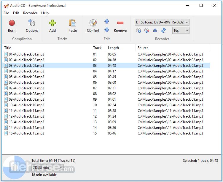 BurnAware Professional 13.7 Screenshot 4