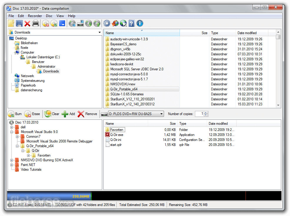 CDBurnerXP 4.5.8.7035 (64-bit) Screenshot 1