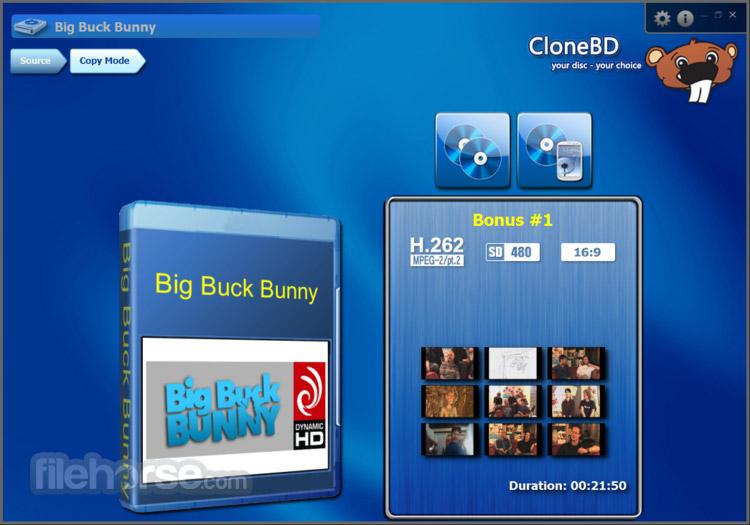 CloneBD 1.1.9.0 Captura de Pantalla 2