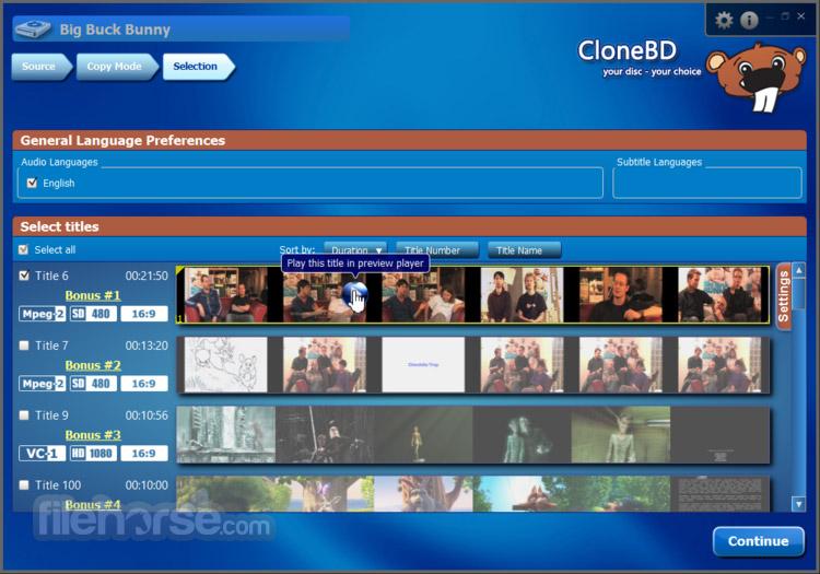 CloneBD 1.1.9.0 Captura de Pantalla 5