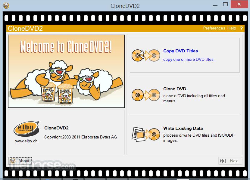 CloneDVD 2.9.3.3 Captura de Pantalla 1