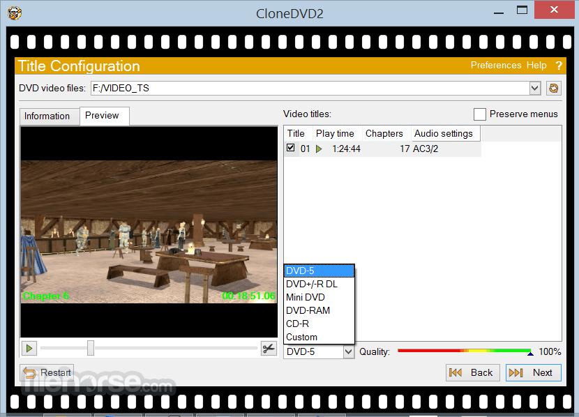 CloneDVD 2.9.3.3 Captura de Pantalla 2