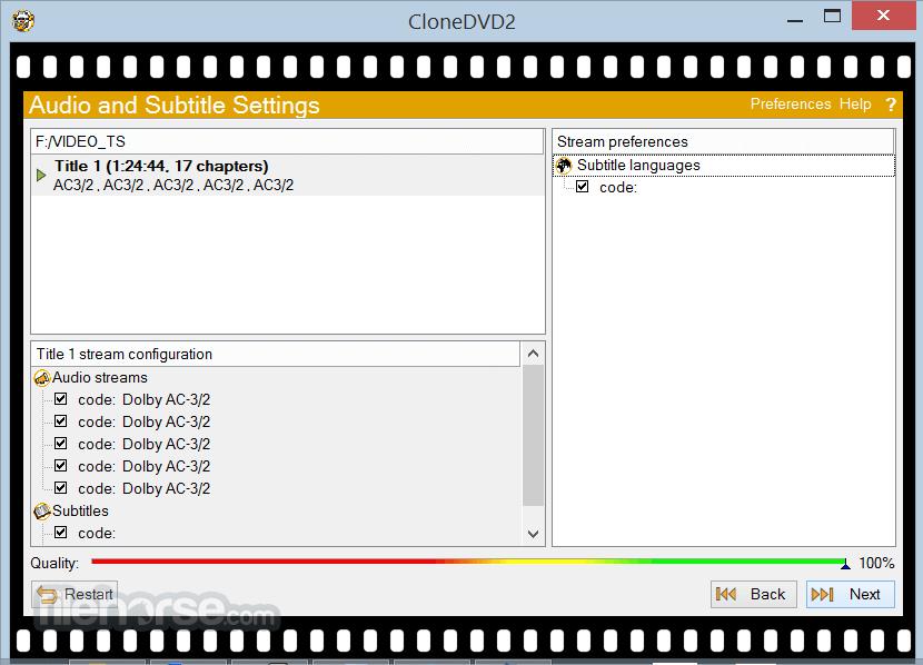 CloneDVD 2.9.3.3 Captura de Pantalla 3