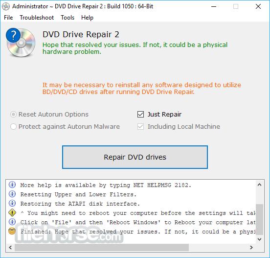 DVD Drive Repair 2.2.2.1125 Captura de Pantalla 1