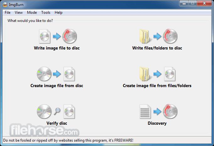 ImgBurn 2.5.8.0 Captura de Pantalla 1