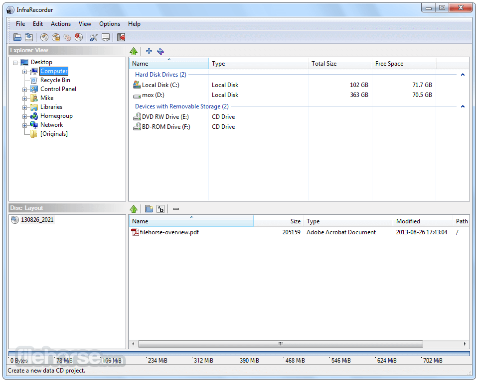 InfraRecorder 0.53 (64-bit) Screenshot 2