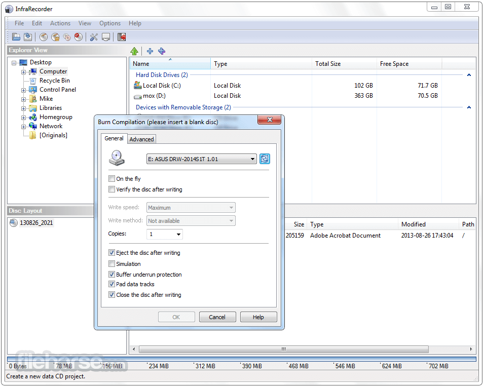 InfraRecorder 0.53 (64-bit) Screenshot 3