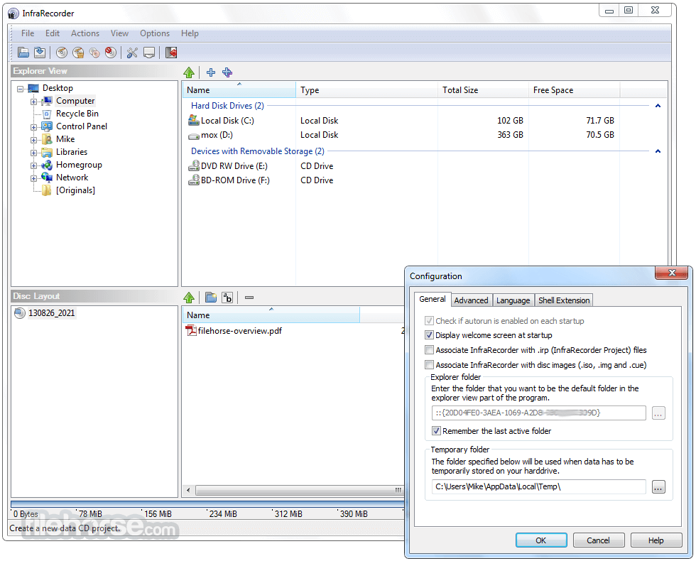 InfraRecorder 0.53 (64-bit) Screenshot 4