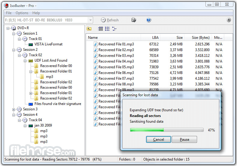 IsoBuster 4.1 Screenshot 1