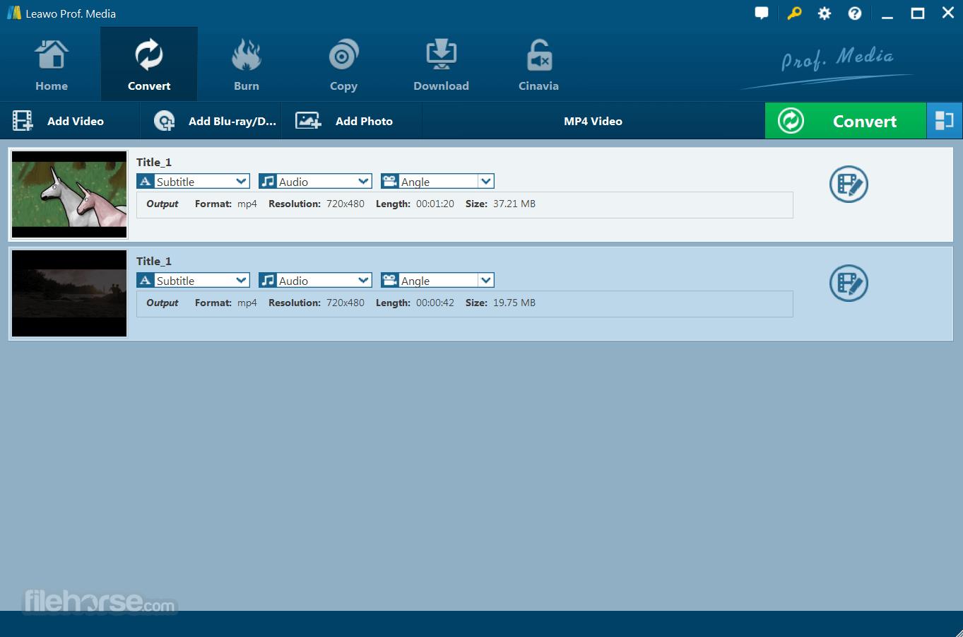 Leawo Blu-ray Ripper 8.3.0.0 Screenshot 1