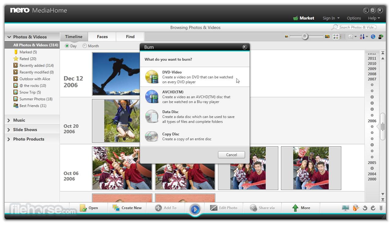 Nero MediaHome 17.0.00500 Screenshot 1