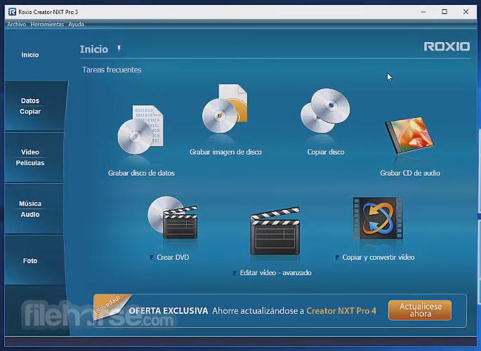 Roxio Creator NXT Pro 5 Screenshot 1