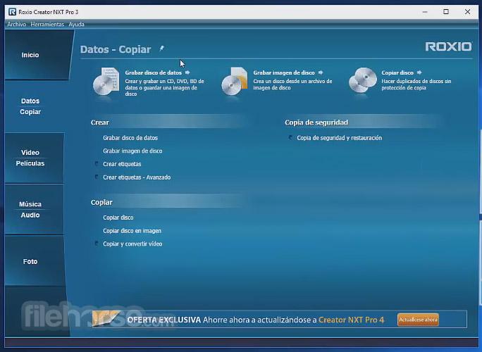Roxio Creator NXT Pro 5 Screenshot 2