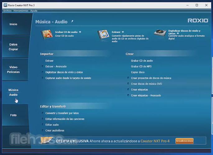 Roxio Creator NXT Pro 5 Screenshot 4