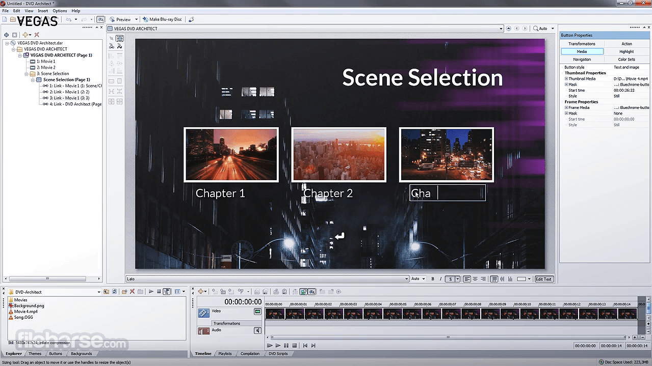 VEGAS DVD Architect 7.0 Build 100 Screenshot 2