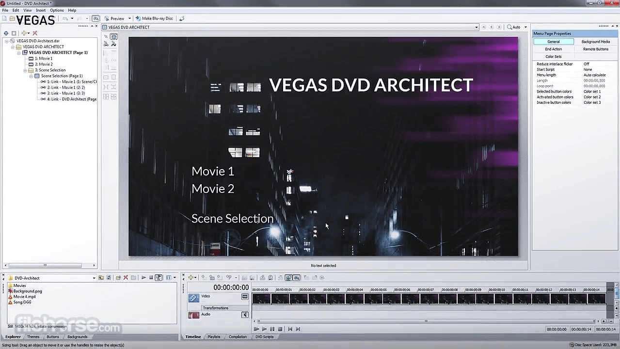VEGAS DVD Architect 7.0 Build 100 Screenshot 3