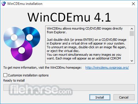 WinCDEmu 4.1 Screenshot 1