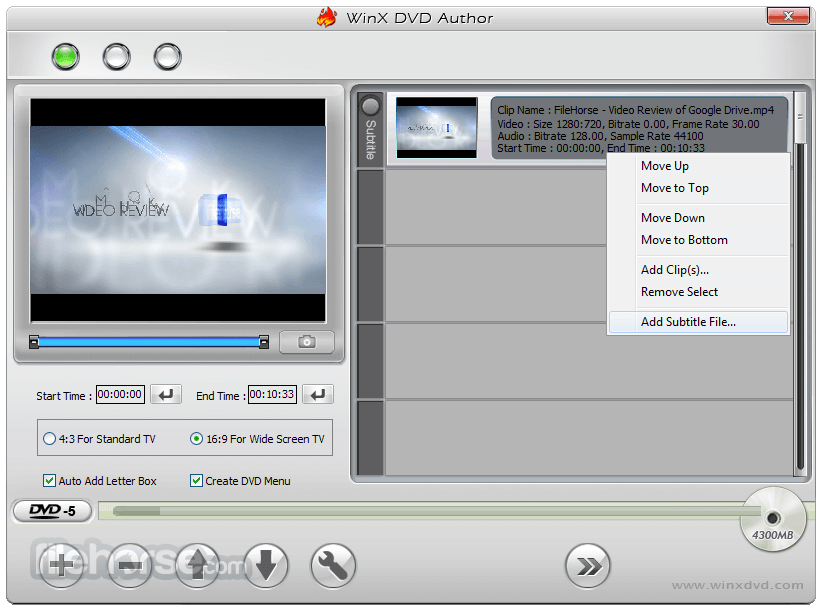 WinX DVD Author 6.3.1 Screenshot 2