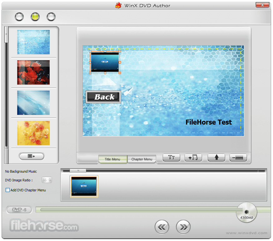 WinX DVD Author 6.3.1 Screenshot 3