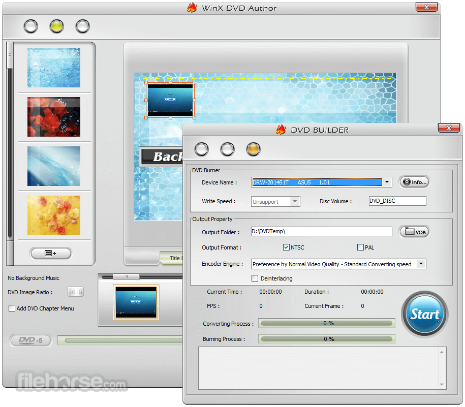 WinX DVD Author 6.3.1 Screenshot 4