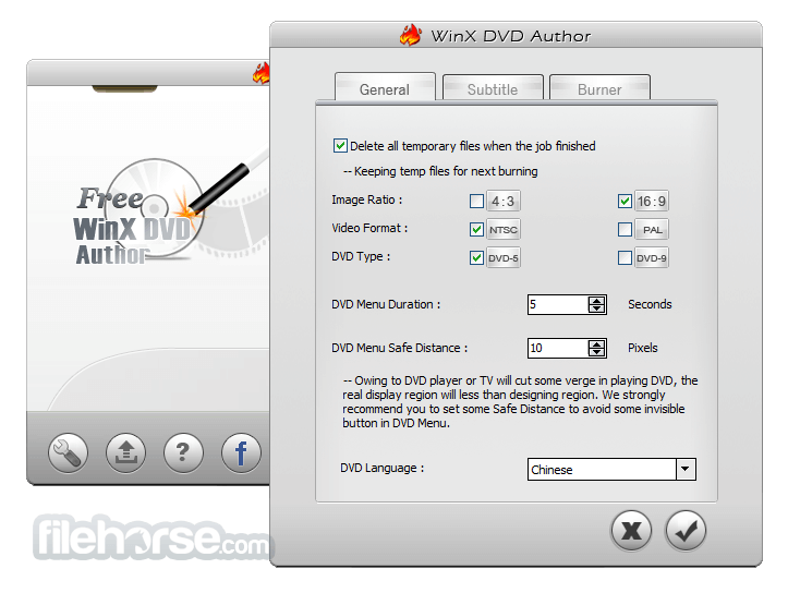 WinX DVD Author 6.3.1 Screenshot 5