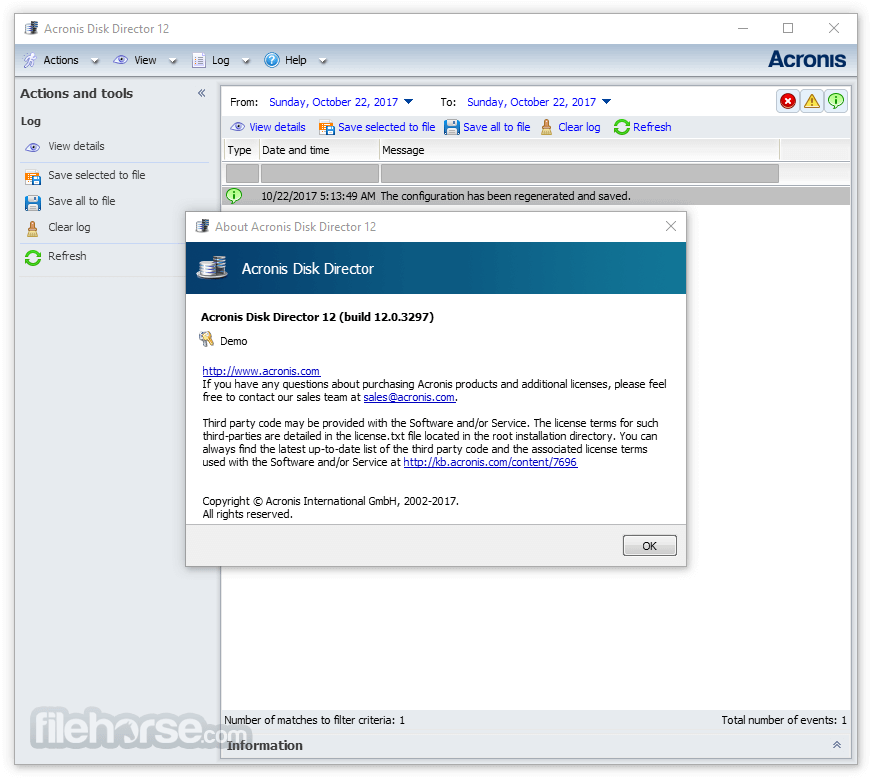 Acronis Disk Director 12 Build 12.5.163 Screenshot 3