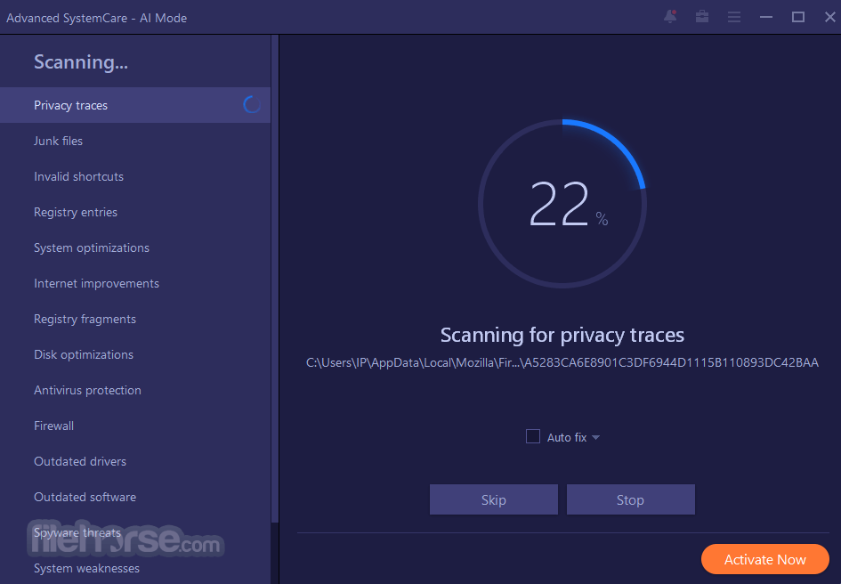 Advanced SystemCare Free 11.5.0.239 Captura de Pantalla 2