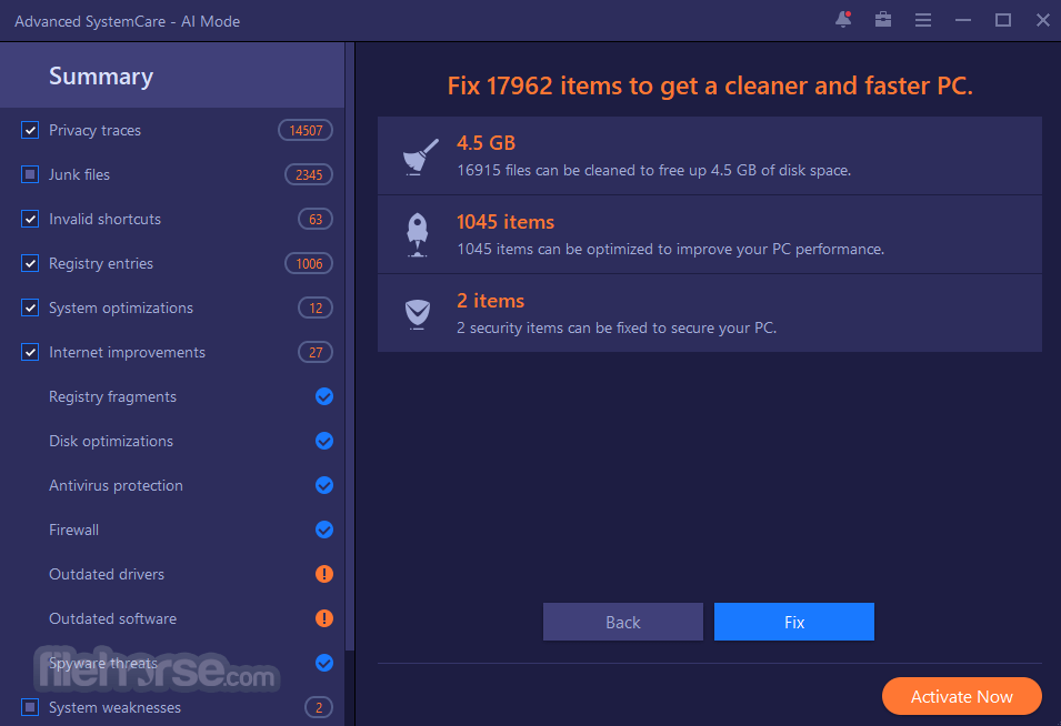 Advanced SystemCare Free 11.5.0.239 Captura de Pantalla 3