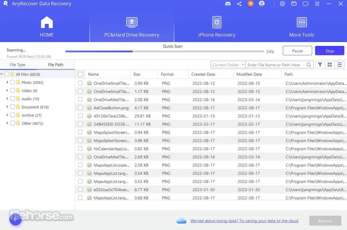 AnyRecover 4.0.0 Screenshot 2