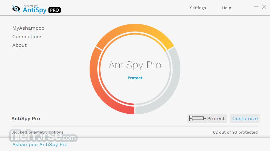 Ashampoo AntiSpy 1.1.0.1 Screenshot 1
